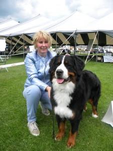 Evi en ik samen op de hondenshow in Uden.